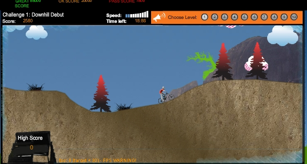 Игра Горный BMX онлайн