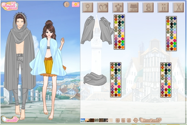 Игра Девушка и юноша онлайн