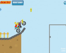 Игра Bart Bike Adventure онлайн