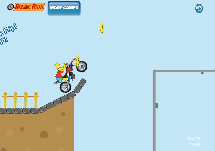 Игра Bart Bike Adventure онлайн