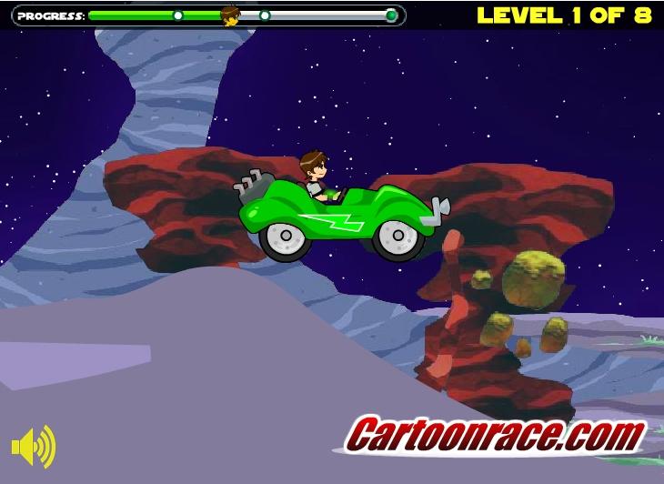 Игра Ben 10 Race Car онлайн
