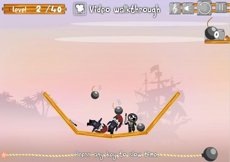 Игра Boom, Pirates! онлайн