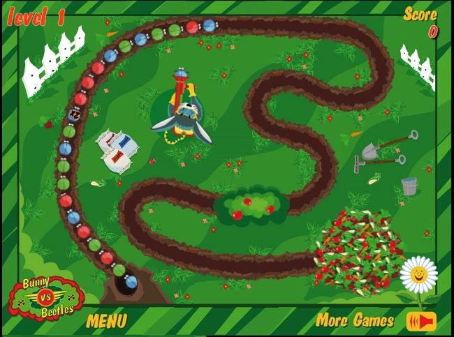 Игра Bunny vs Beetles онлайн