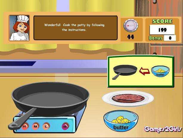 Игра Cooking Show — Cheese Burger онлайн