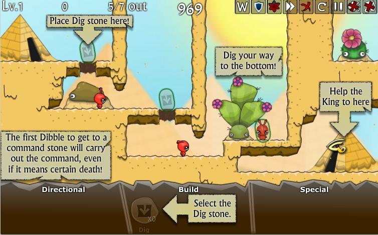 Игра Dibbles 3 — Desert Despair онлайн