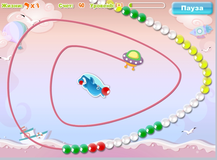 Игра Dolphin Pop онлайн