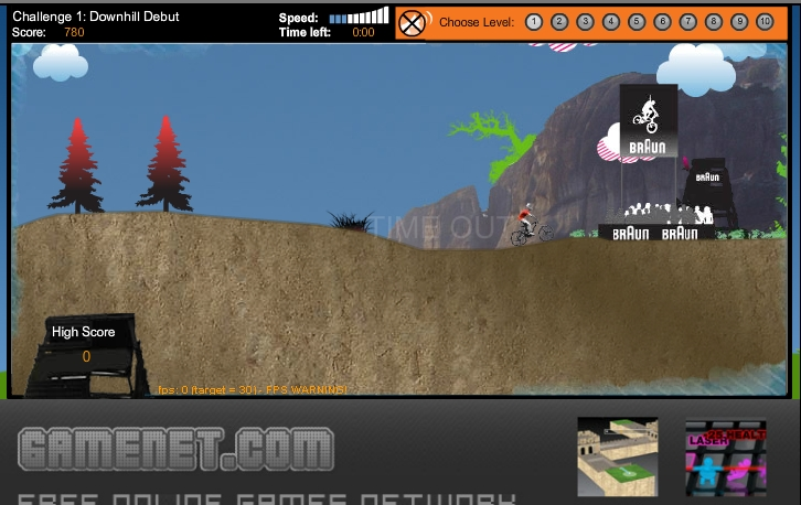 Игра Downhill Mayhem онлайн