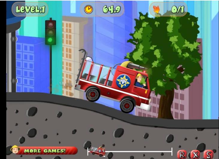 Игра FireMan Sam's Fire Truck онлайн
