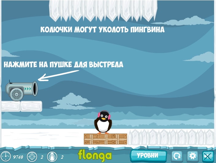 Игра Flying Penguins онлайн