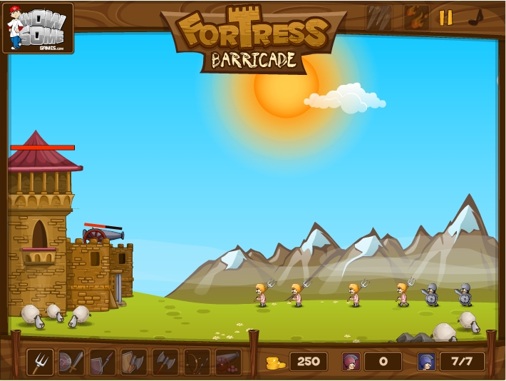 Игра Fortress Barricade онлайн