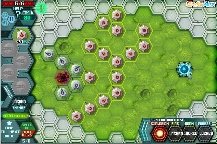 Игра Hexagon Planet TD онлайн
