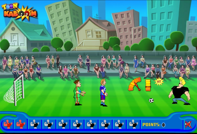 Игра Johnny Bravo Soccer Champ онлайн