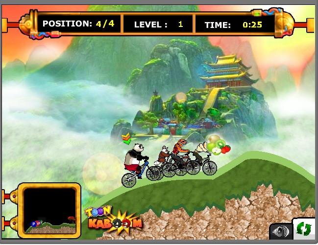 Игра Kung Fu Panda: Racing Challenge онлайн