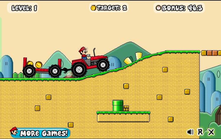 Игра Mario Tractor онлайн