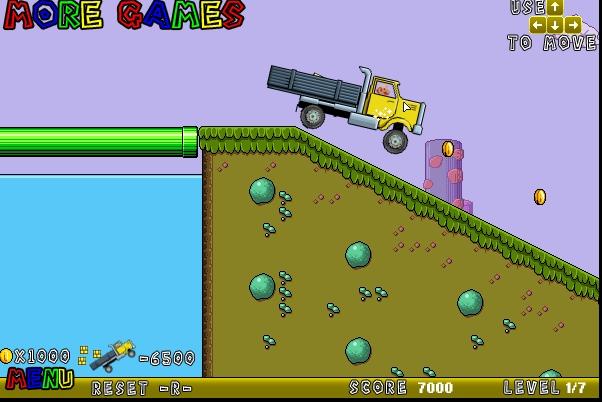 Игра Mario Truck 2 онлайн