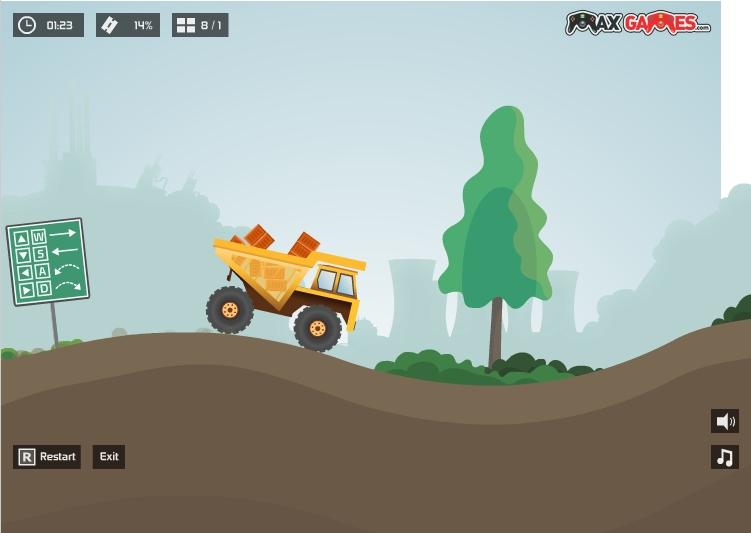 Игра Max Dirt Truck онлайн