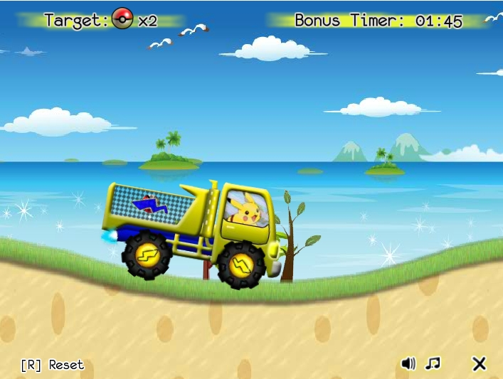 Игра Pika Poke Truck онлайн