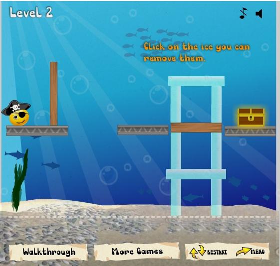 Игра Pirate Treasure Hunt онлайн