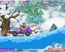 Игра Pooh Bear's Honey Truck онлайн