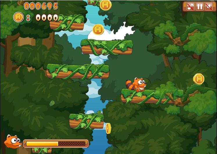 Игра Racoon Jump онлайн