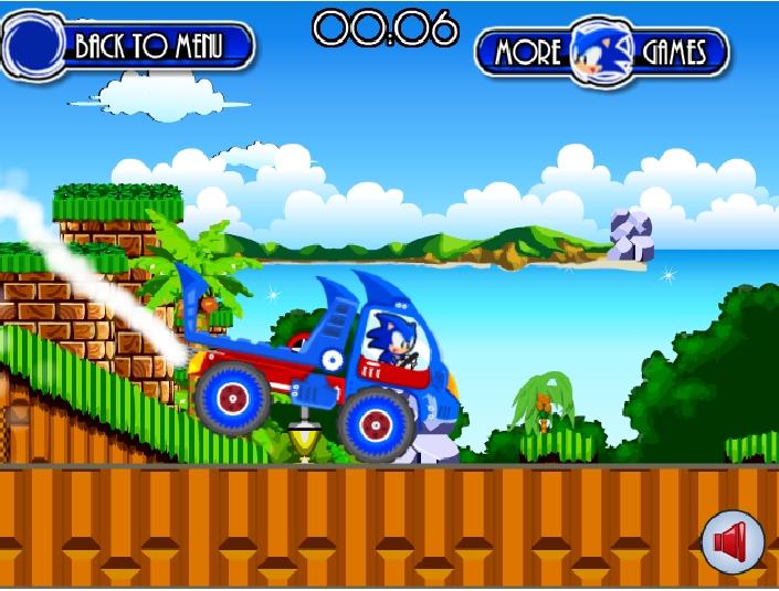 Игра Sonic truck онлайн