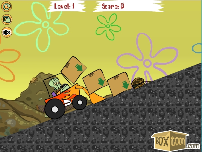 Игра Squidward Tractor онлайн