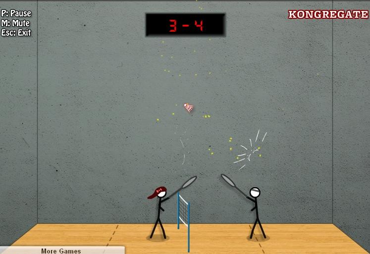 Игра Stick Figure Badminton 2 онлайн