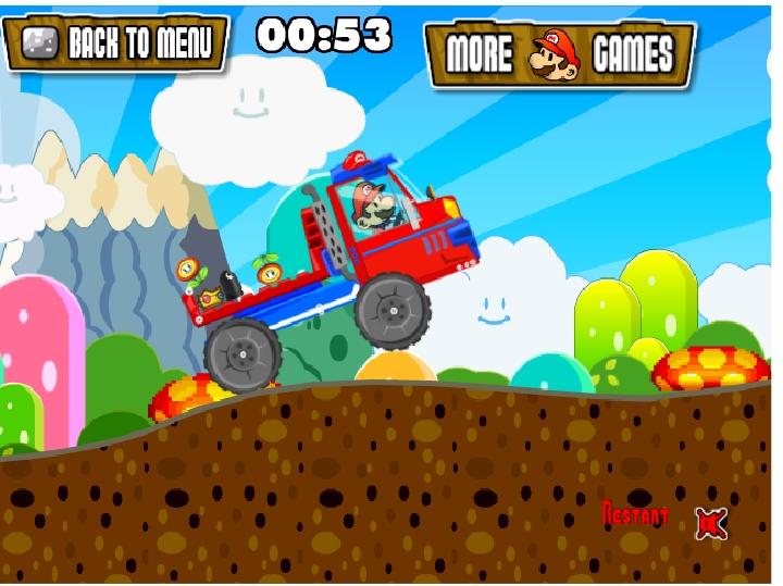 Игра Super Mario Truck 3 онлайн