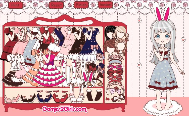Игра Sweet Lolita Dress Up Game онлайн