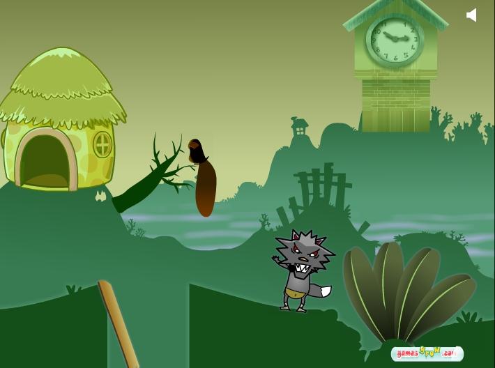 Игра The Black Wolf Wants Sheep 2 онлайн
