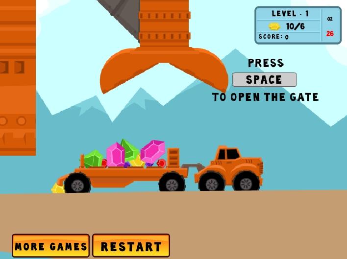 Игра The Diamonds Transporter онлайн