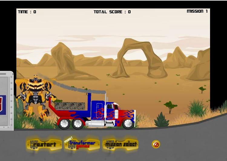 Игра Transformers Truck онлайн
