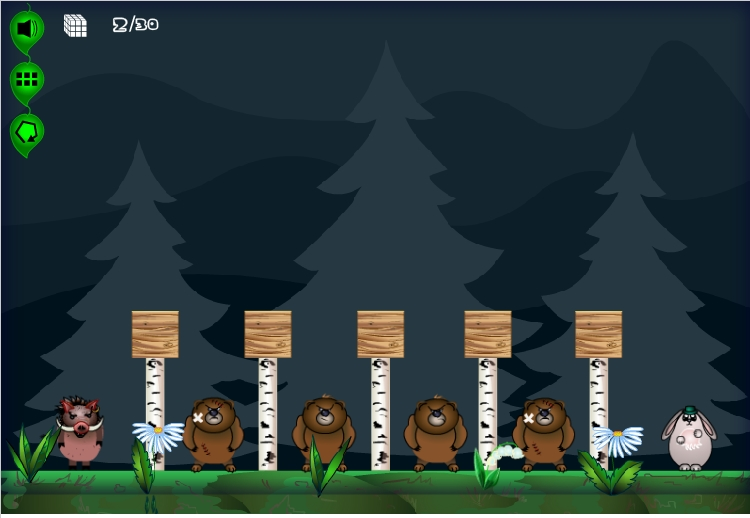 Игра Zayki 2: The Forest онлайн