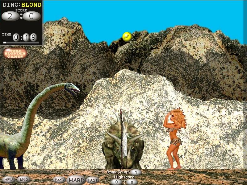 Игра Блондинки против динозавров онлайн
