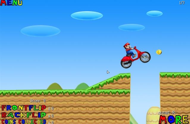 Игра Марио на Мотоцикле 2 онлайн
