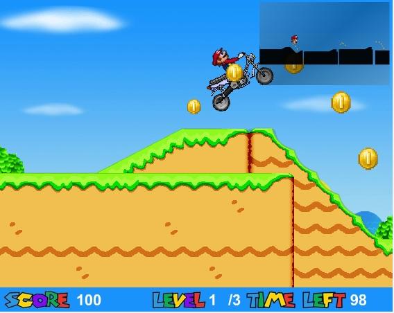 Игра Марио на мотоцикле онлайн