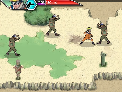 Игра Наруто Битва за Деревню онлайн