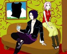 Игра Одевалка Сакура и Саске онлайн
