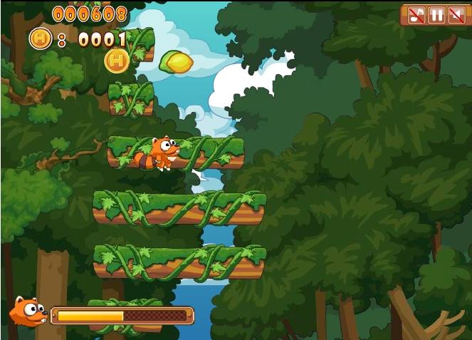 Игра Прыгучие еноты онлайн