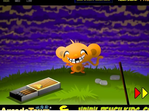 Игра Счастливая обезьянка онлайн