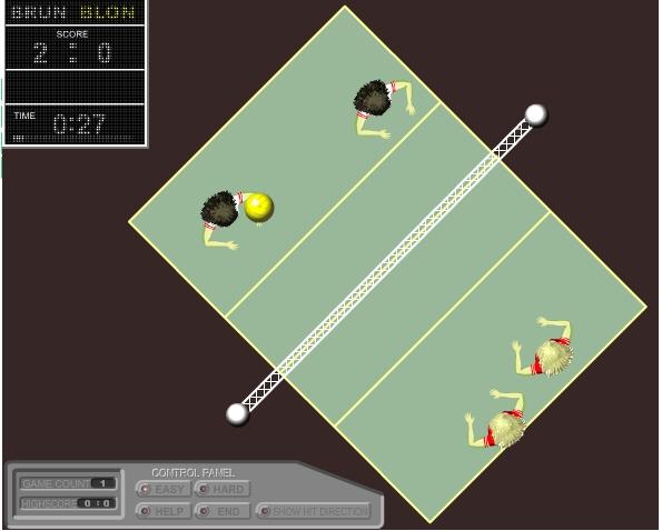 Игра 2×2 Volleyball — blondes vs brunettes онлайн