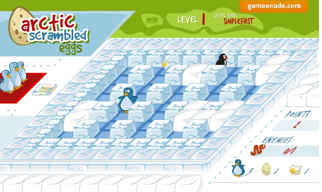 Игра Arctic Scrambled Eggs онлайн