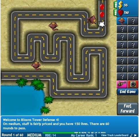 Игра Bloons TD 4 онлайн