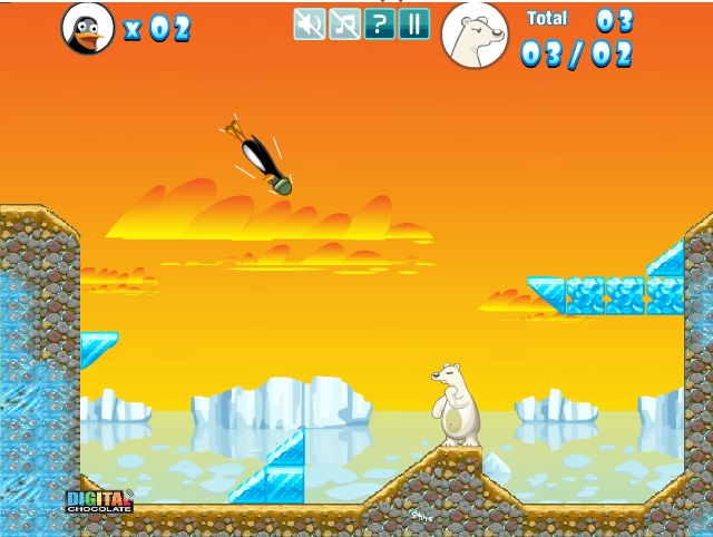 Игра Crazy Penguin Catapult онлайн