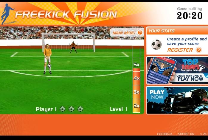 Игра Freekik Fusion онлайн