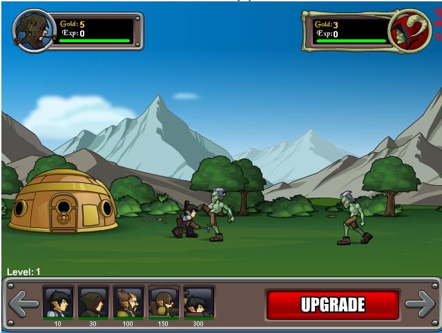 Игра Gnome Mans Land онлайн