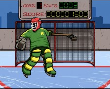 Игра Hockey suburban goalie онлайн