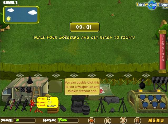Игра Pet Soldiers онлайн