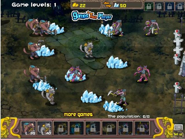 Игра Werewolf Vampire War онлайн