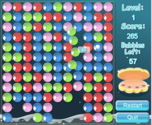 Игра Перемещение пузырьков онлайн